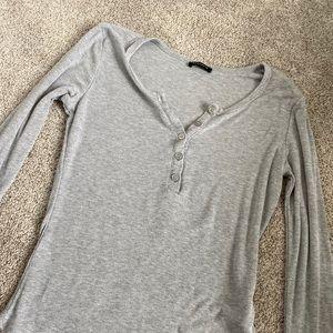 Basic grey dynamite ribbed long sleeve